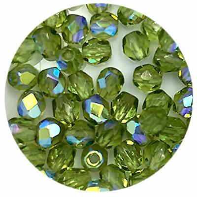 Facetkraal - Groen - Glas - 4mm