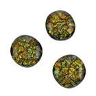 Cabochon - Oranje/groen - Glas - 8-10mm