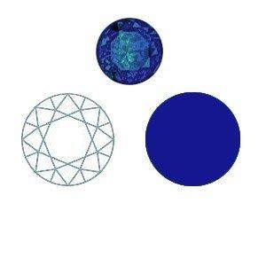Spinel - Donker blauw - Rond briljant - 2mm