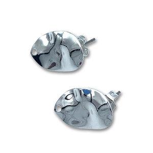 Bladvorm/gat - Zilver - Metaal - 16x11mm