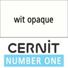 Cernit NO1 Wit opaque (90-027) - 56 gram