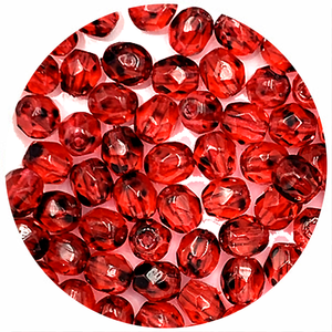 Facetkraal - Rood gespikkeld - Glas p52 - 4mm