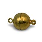 Magneetslot bol - Goud - Metaal - 10mm