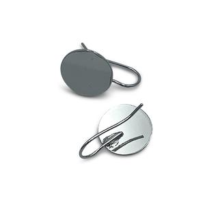 Oorhaak plateau - Zilver - Metaal - 15mm