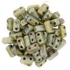 Bricks - 3/6mm - Luster - Opaque Green