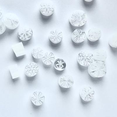 Millefiori Mix - COE90 - White Snowflakes