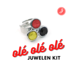 Ole Ole - Ring - 3 Steentjes