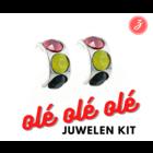Ole Ole - Oorbellen - 3 Steentjes