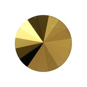 3015 - Button - 12mm - Crystal Dorado