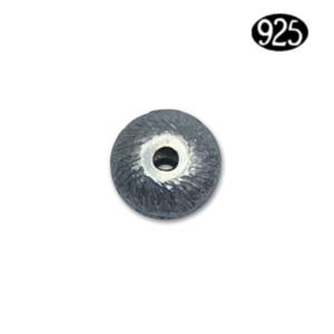 Donut geborsteld - Zilver (925) - 6x4mm