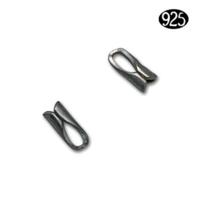 Eindstukken voor ronde ketting 1mm - Zilver (925)