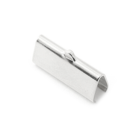 Platte klem - Zilverkleur - Metaal - 21x9mm