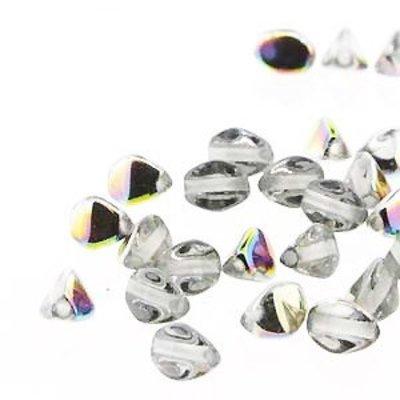 Pinch Beads - 5mm - Crystal Vitrail
