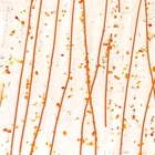 Bullseye - oranje spikkels en oranje stringers op clear - 18x17 cm