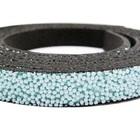 Plat leder caviaar - 6x2mm - Aqua