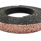 Plat leder caviaar - 6x2mm - Licht roze