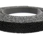 Plat leder caviaar - 6x2mm - Zwart