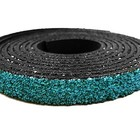 Plat leder caviaar - 6x2mm - Turquoise