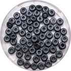 O-beads - Pastel Dark grey / hematite - 10 gram