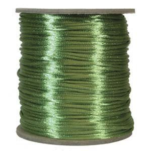 Satijnkoord 1mm Apple Green