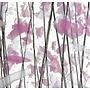 Bullseye - roze/witte confetti, zwarte stringers op clear - 18x17 cm