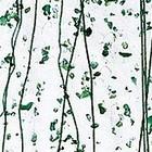 Bullseye - groene spikkels en groene stringers op clear - 18x17 cm