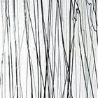Bullseye - Zwarte en donkergrijze/witte stringers op clear - 18x17 cm