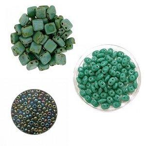 Crea-pakket - Armband Alane - Groen Turquoise