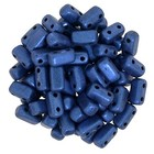 Bricks - 3/6mm - Metallic Suede - Blue