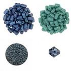 Halsketting Palaso met Bricks - Petrolium/Turquoise
