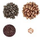 Halsketting Palaso met Bricks - Bruin/koper