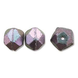 Antique cut - Polychrome Deep purple - Glas - 10mm