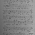 """Reliefplaat """"Sheet music"""" - 5x10cm"""