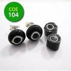 Zwart/witte cirkel/zwart punt - 8-10mm