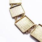 Armband - vierkant plateau - 20mm - goudkleurig