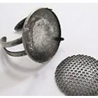 Opzetring - oud zilver - metaal - afneembare kap