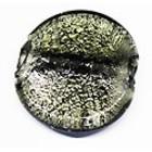 Coin - Zwart zilver - Glas - 30mm