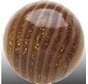 Bol - Bruin/amber strepen - Divers - 20mm