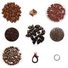 Cascada halsketting - Chocolade Bruin/Brons/Rose