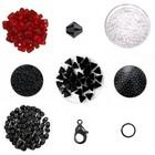 Cascada halsketting - Zwart/Ruby