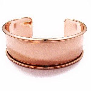 Armband met boord - Rosé goud - 24x66mm