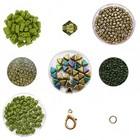 Cascada halsketting - Olijf/Lime