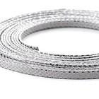 Leder Slang/metaal - 5x2mm - Zilver