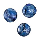 Dichroic cabochon - blauw - 9mm