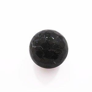 Agaat rond - Zwart - Agaat - 12mm
