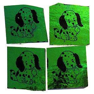5x hondjes op dichro on black - COE90