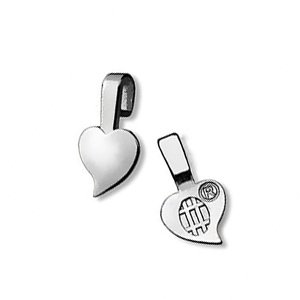 Aanraku silver plated heartshaped bails - small