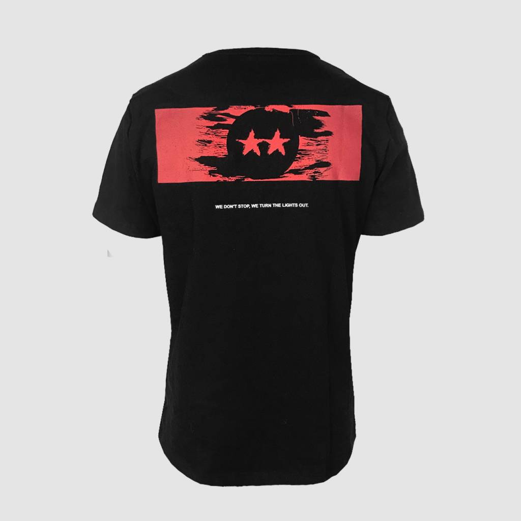 D-Block & S-te-Fan  Distressed Red Logo T-shirt
