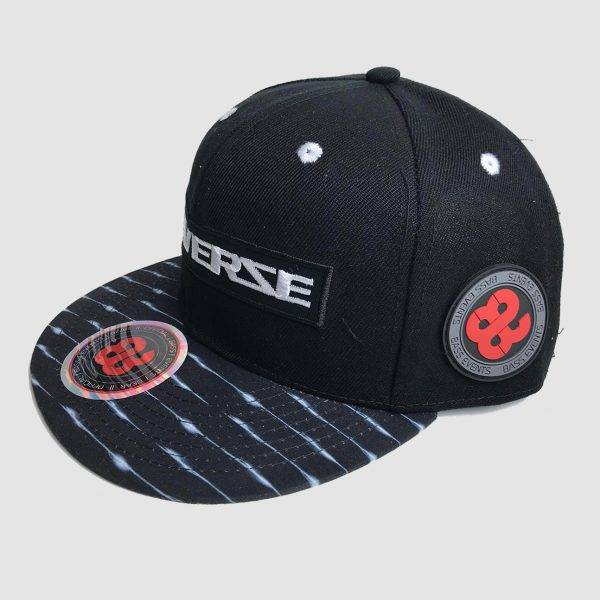 Reverze - Shocking Black / White Snapback
