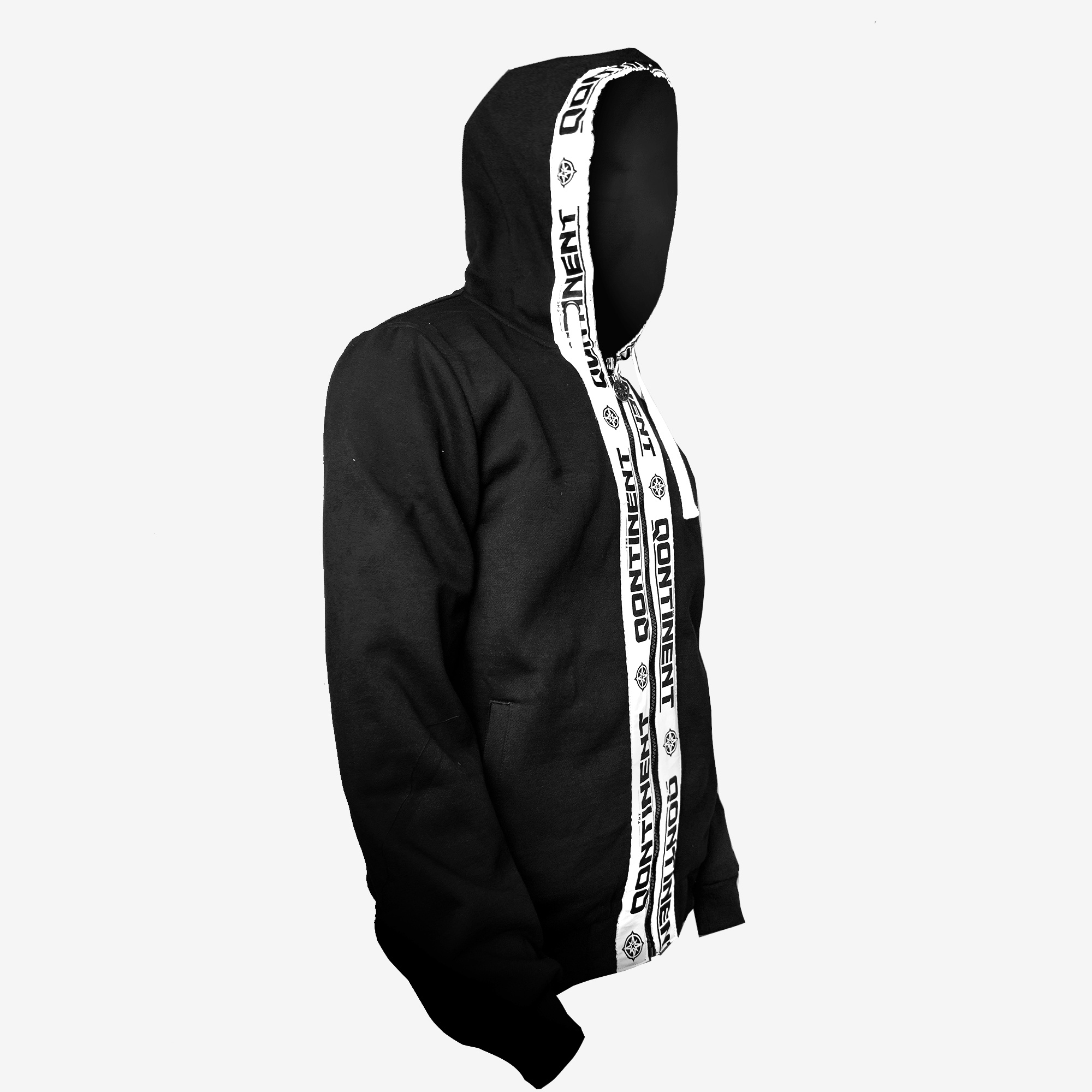 The Qontinent - 2019 Taped Zipped Hoody
